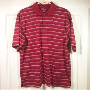PGA Tour Golf Shirt Red & White EUC Sz Large